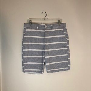 Light Blue Striped Shorts from Old Navy (32)